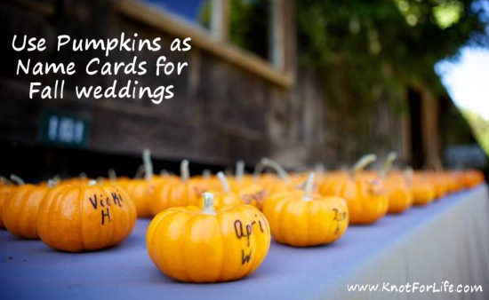 Using pumpkins for fall weddings knot for life Places to have a fall wedding