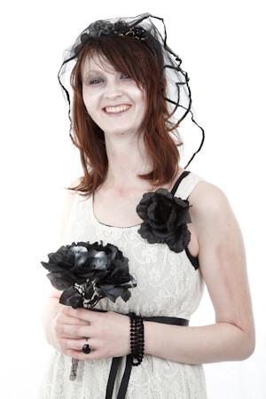 Bride's Dress for a Halloween Wedding