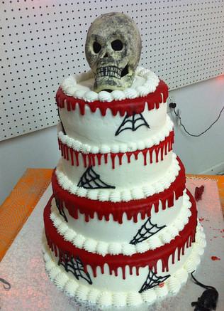 Blood Dripping Halloween Wedding Cake
