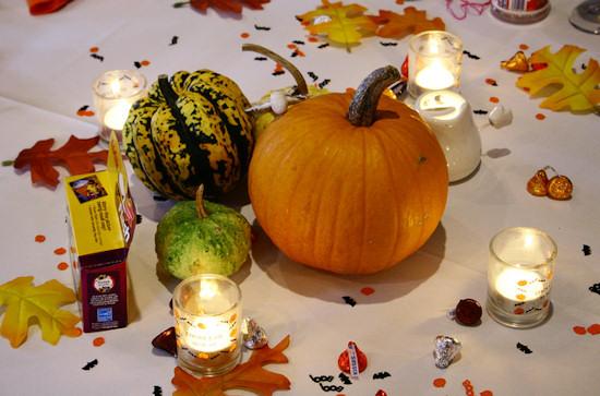 Halloween Wedding Pumpkin Centerpiece