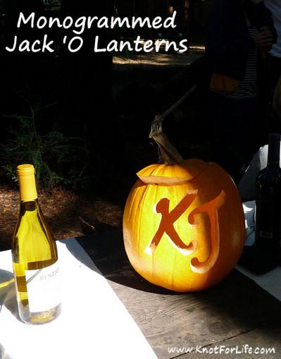 Monogrammed Jack-O-Lanterns
