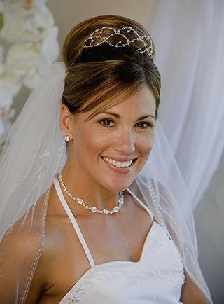 Long Wedding Hairstyles With Veils And Tiaras Knot For Life