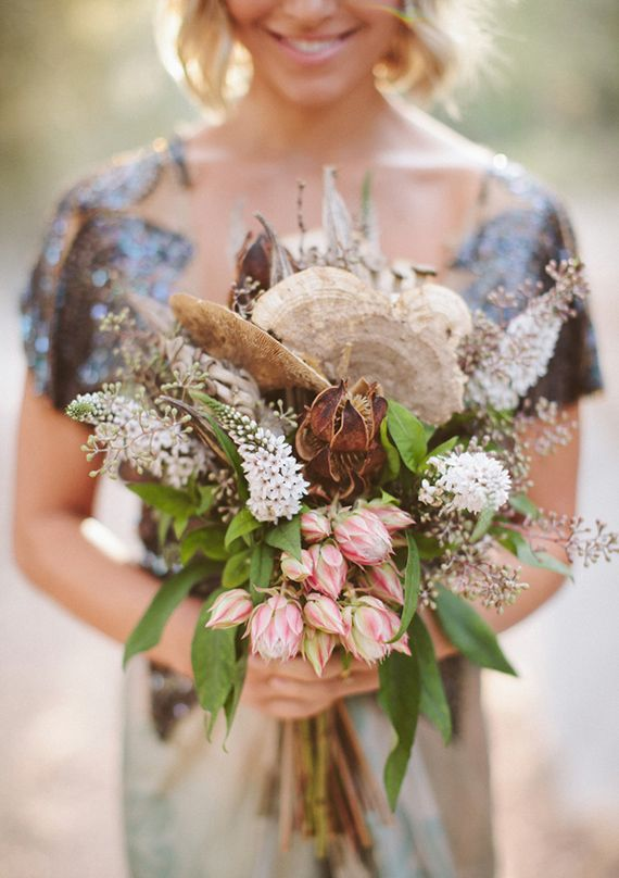 boho woodland wedding bouquet