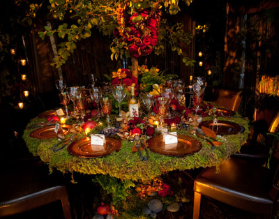 Feast in the Forest - Themed Table Setting courtesy of Courtesy of the National Association of Catering Executives