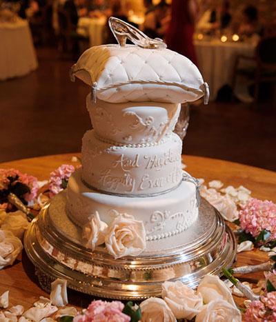 Cinderella Glass Slipper Wedding Cake - Cinderella Wedding Cake Ideas