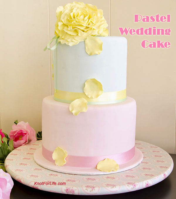 pink and yellow wedding cake ideas pastel wedding cake ideas the best inspirations knot 18565