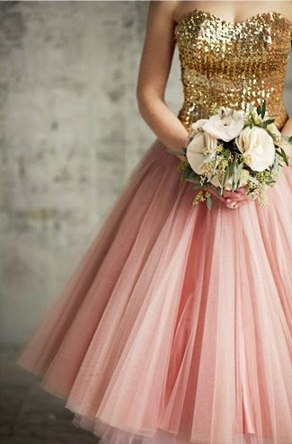 Pink and gold wedding theme knot for life for Pink and gold wedding dress