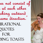 Wedding Toast Inspirational Quotes