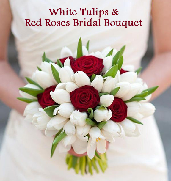 White and red bridal bouquet knot for life white and red bridal bouquet mightylinksfo
