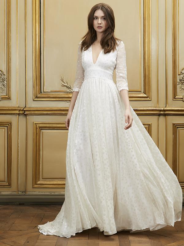 Beautiful vintage style, full sleeves princess wedding dress - Delphine Manivet 'ozgur' wedding dress