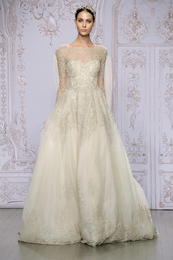 Monique Lhuillier princess wedding dress