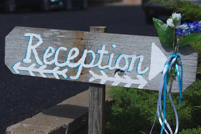 wedding reception DIY wood sign