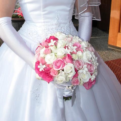 White Pink Bridal Bouquet