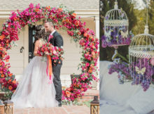 Creative floral wedding decor