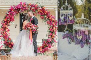 Creative floral wedding decor