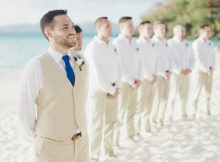 Groom's suit for Beach Wedding
