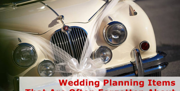 Wedding Planning Items That Are Often Forgotten About